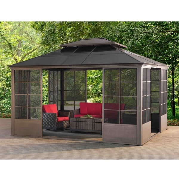 Sunjoy Conner V2C Screen House Gazebo