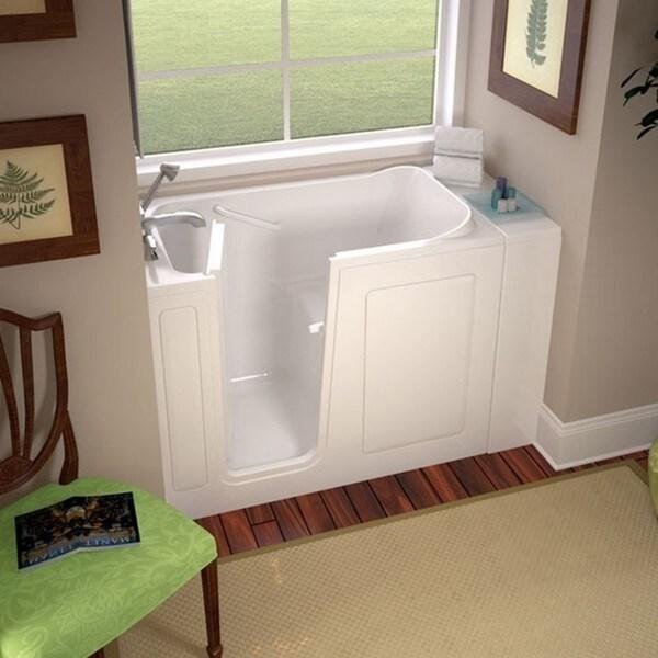 Shop American Standard 2848.100.SLW White Whirlpool Bathtub - Free ...