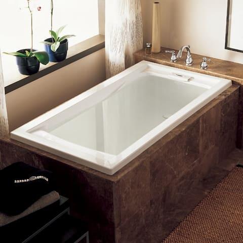 American Standard Evolution 72 Inch by 36 Inch Deep Soak Bathtub, White (7236V.002.020)