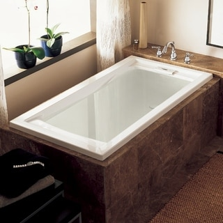 American Standard Evolution 72 Inch by 36 Inch Deep Soak Bathtub, White (7236V.002.020)