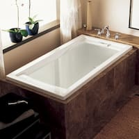 Shop Whisper 72 X 36 White Soaker Tub Free Shipping