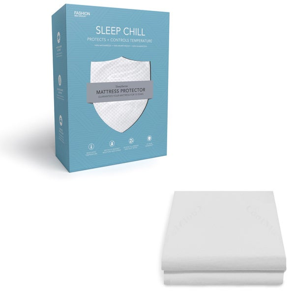 sleep chill mattress protector with soft and moisture resistant coolmax fabric free shipping on orders over 45
