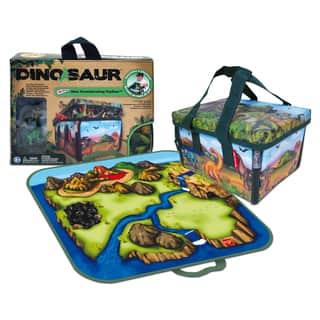 Neat-Oh ZipBin Dinosaur Mini Playset - Green/Blue