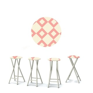 Best of Times Set of 4 Padded Bar Stools; Diamonds Are Forever