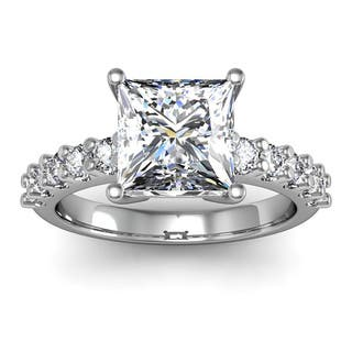 diamond engagement ring with 2ct clarity enhanced - Cheap Wedding Rings