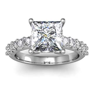 diamond engagement ring with 2ct clarity enhanced - Real Diamond Wedding Rings