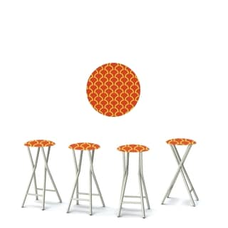 Best of Times Set of 4 Padded Bar Stools; Fun With Fins