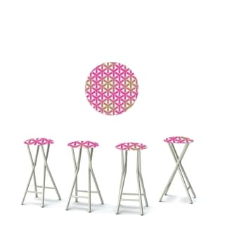 Best of Times Set of 4 Padded Bar Stools; Stargazer