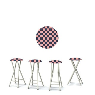 Best of Times Set of 4 Padded Bar Stools; Check Me Out
