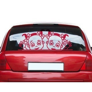 Girls At The Window Car Decal Vinyl Wall Art Home Decor