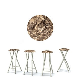 Best of Times Set of 4 Padded Bar Stools; Camoflauge