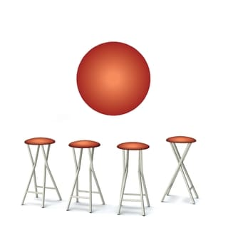 Best of Times Set of 4 Padded Bar Stools; Desert