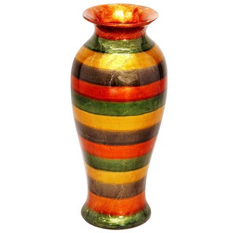 Heather Ann Tapered Glazed Round Ceramic Vase