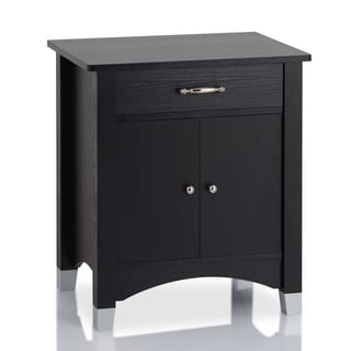 Furniture of America Sharla Modern 1-drawer Black Nightstand
