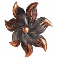 Heather Ann Starburst Flower Foil Glazed Wall Decor