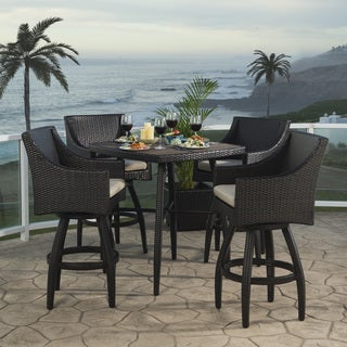 Deco Slate Grey Outdoor Bar stool Set (5 piece set)