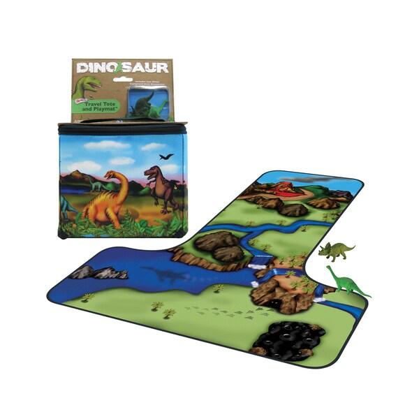 Neat-Oh ZipBin 20 Dinosaur Tote with 2 dinosaurs