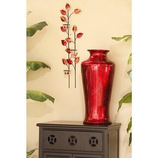 Heather Ann Round Tapered Glazed Ceramic Vase