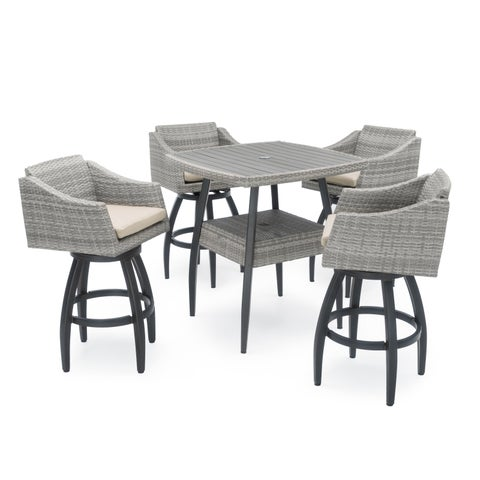 Cannes 5-piece Barstool Set in Slate Grey