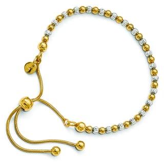 Versil Gold over Silver Adjustable Bracelet