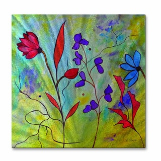 Floral Space by Ruth Palmer Metal Wall Art