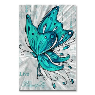 Live Beautifully by Megan Duncanson Metal Wall Art