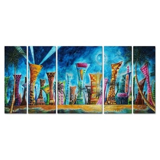 Megan Duncanson 'Miami Night Life' Metal Wall Art