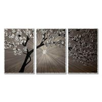 Silver Moon 3 by Osnat Metal Wall Art