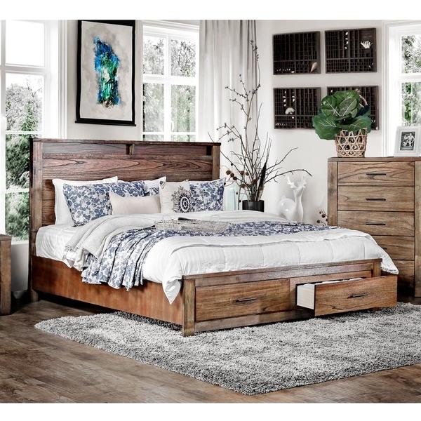 Shop Furniture Of America Casso Rustic Oak Storage