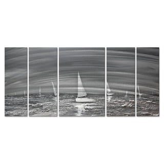 The Silver Sea by Osnat Metal Wall Art