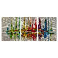 October Sail by Osnat Metal Wall Art
