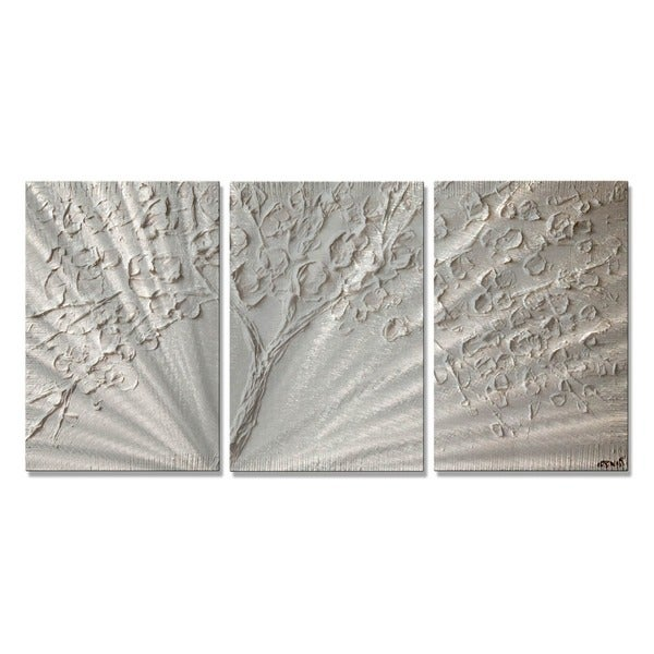 White Tin Wall Decor : White blossom by osnat metal wall art free shipping