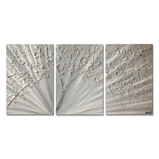 White Blossom by Osnat Metal Wall Art