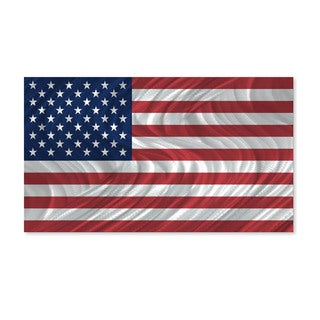 USA Flag by Ash Carl Metal Wall Art Sculpture
