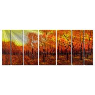 Golden Tree by Justin Strom Metal Wall Art