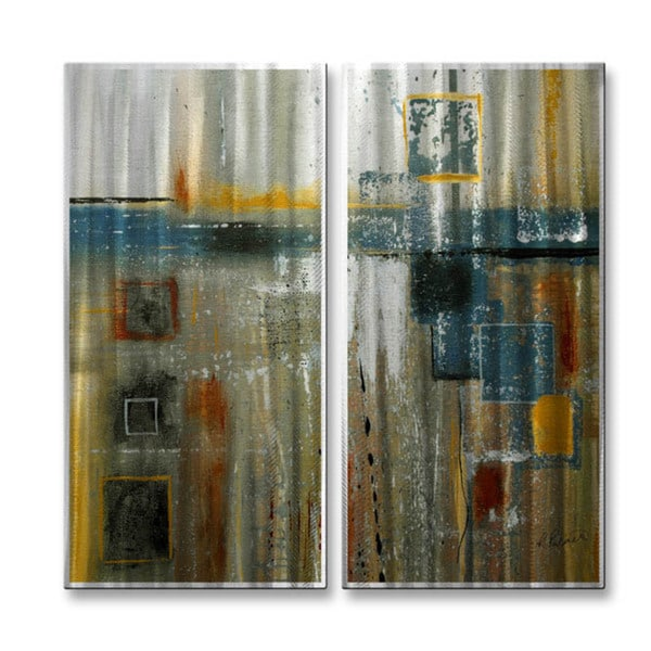 Ruth Palmer 'Boxy' Metal Wall Art