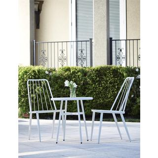 Cosco 3 Piece White Outdoor Bistro Steel Patio Furniture Set