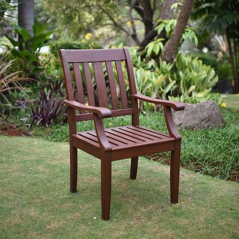 Cambridge Casual Como Mohagany Outdoor Dining Arm Chair