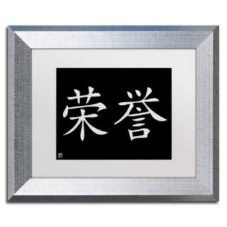 'Honor-Horizontal Black' Matted Framed Art
