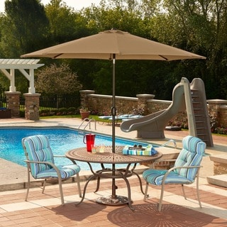 Mirage 9-ft Octagonal Market Umbrella w/ Auto-Tilt in Terra Cotta Olefin