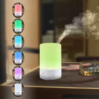 180ml Aromatherapy Essential Oil Diffuser Ultrasonic Cool Mist Aroma Humidifier with 7 Color LED Lights