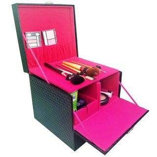 Ikee Design Leatherette Jewelry and Cosmetic Display Box