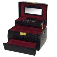 Ikee Design Leatherette Jewelry Box With Key Lock