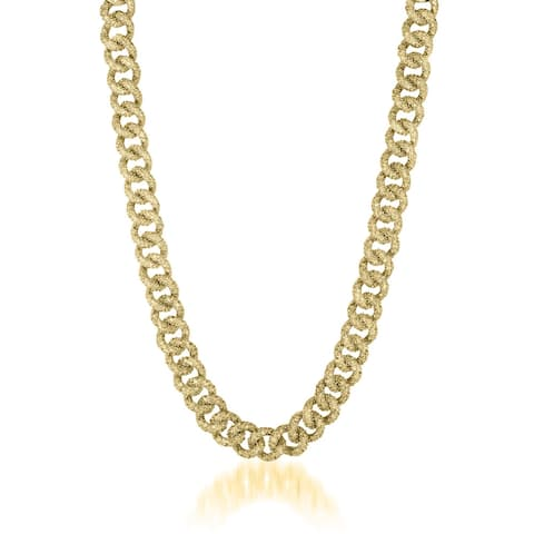 Collette Z Gold Overlay Thick Chain Necklace - White