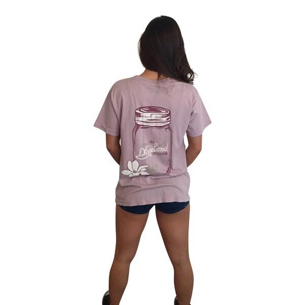 Mason Jar Lavender Short Sleeve Pocket T-Shirt