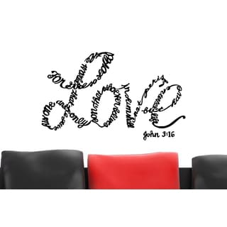 Love For God So Loved the World Wall Art Sticker Decal