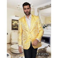 Men's manzini Yellow Woven sport coat