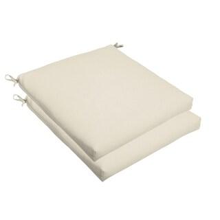 Ivory 19 x 2.5-inch Chair Cushion - Bristol (Set of 2)