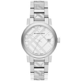 Burberry Unisex BU9037 'The City Check' Stainless Steel Watch