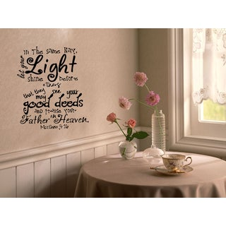 Expression Let Your Light Shine Wall Art Sticker Decal